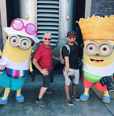 two men with minions